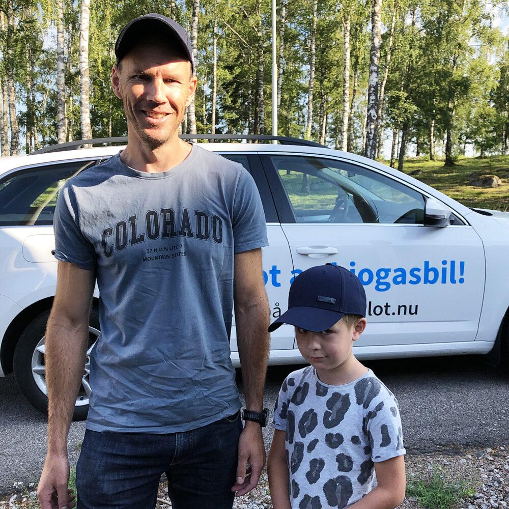 Johan Arvidsson berättar om veckan som testpilot av biogasbil