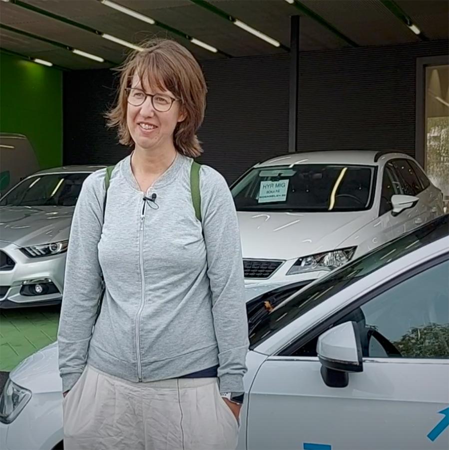 Marie Ingemansson tog en sväng till Skåne med biogasbilen