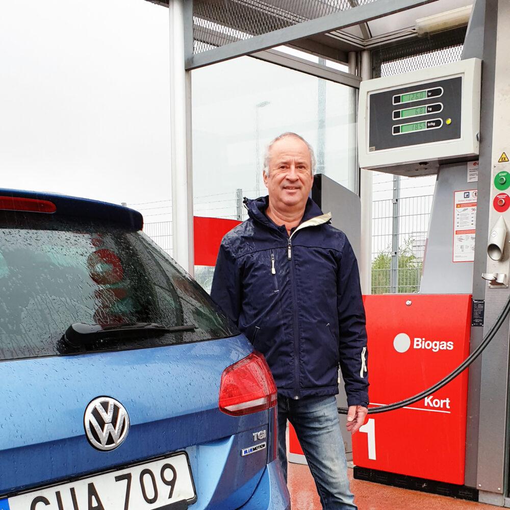 Martin och Irené Lesén har kört biogasbil de senaste 15 åren
