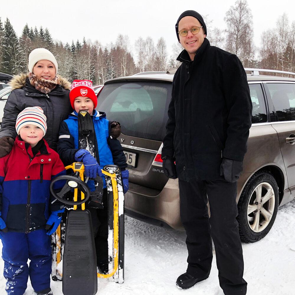 Familjen Rosell bytte till biogasbil