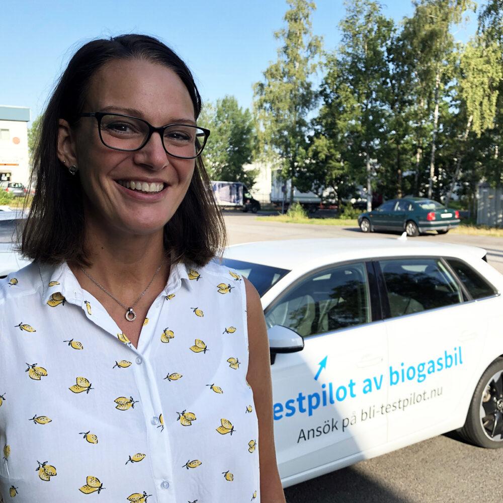 Testpiloten Tina Brorsson Larsson berättar