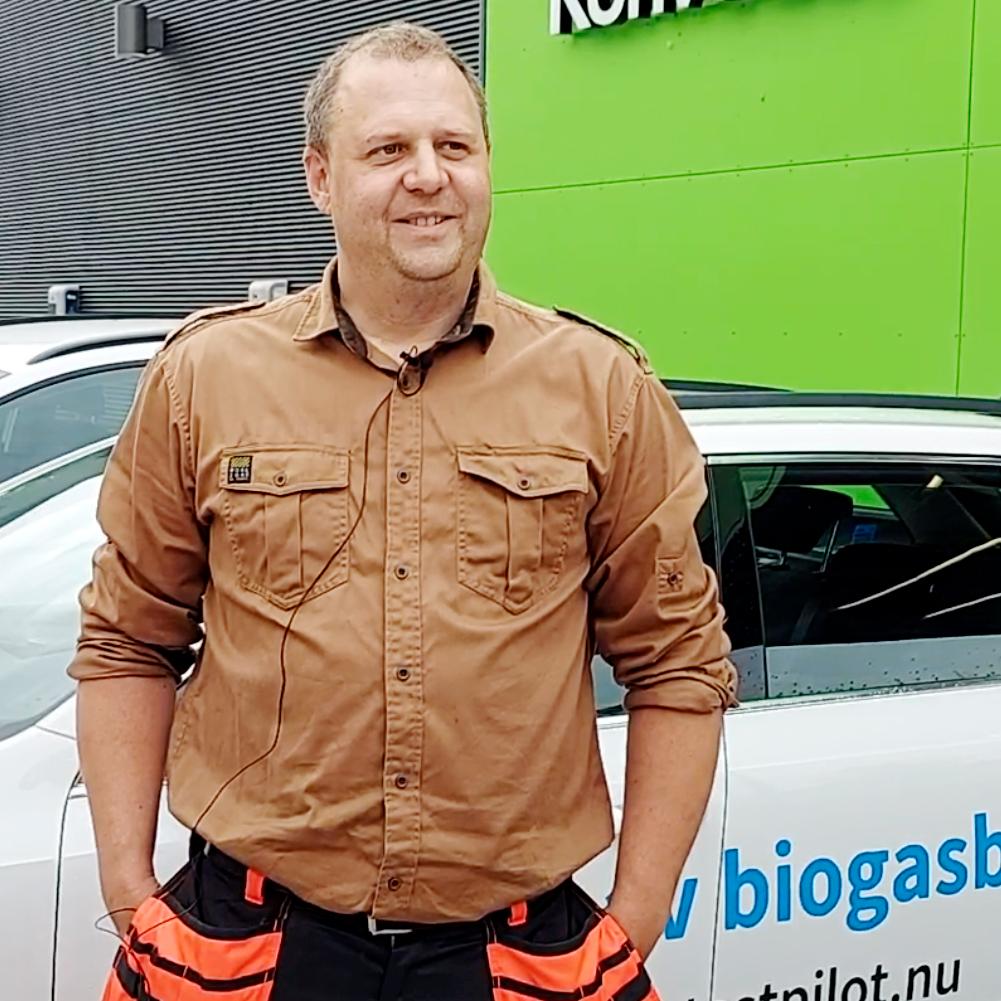 Testpiloten Erik Östergren kan tänka sig att byta till biogasbil
