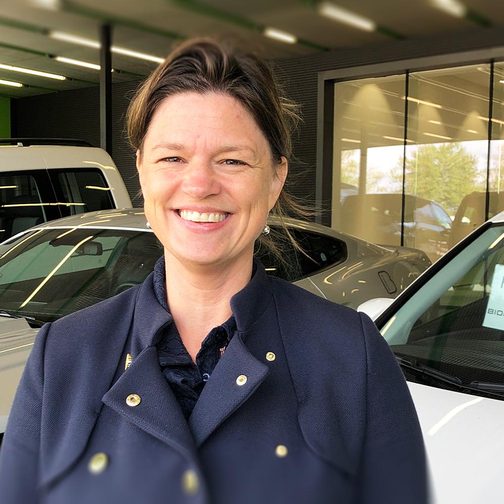 Testpiloten Meg Nömgård är inte riktigt redo att lämna tillbaka biogasbilen