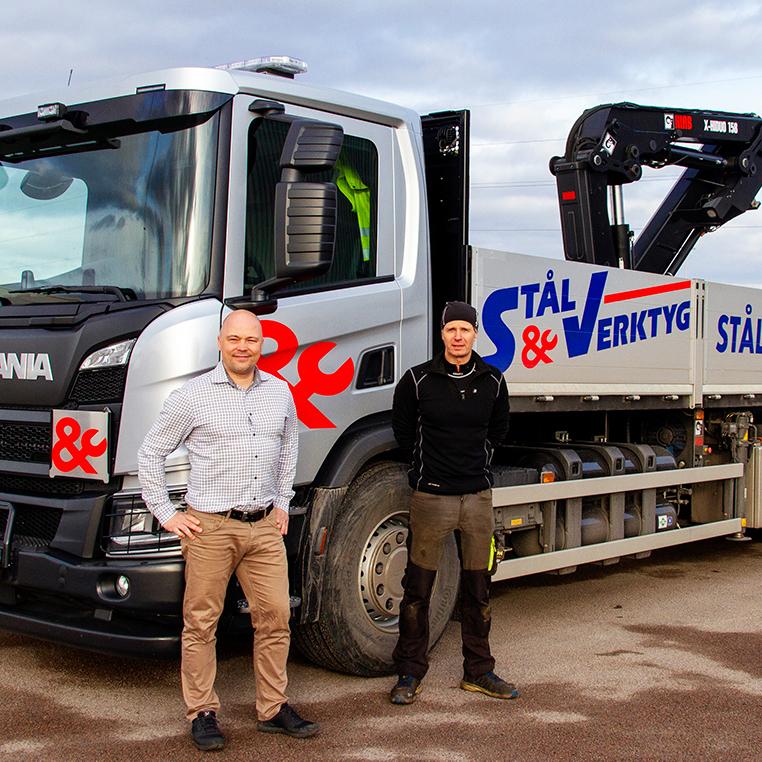 Stål & Verktyg satsar på biogaslastbil för distribution av tungt material